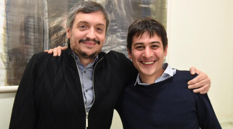 Martín Carnaghi con Máximo Kirchner