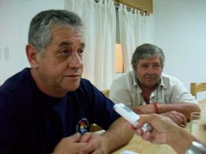 David Martínez junto a Haroldo Zanlonghi en el momento que son entrevistados por Mónica del Castillo para Sobre Nivel.