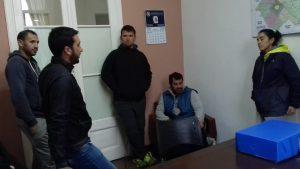 Marveggio en la reunión que mantuvo con integrantes de la C.D. del Club San Lorenzo.