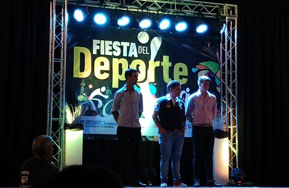 De Izq. a derecha: Maxi Lemme, Felipe Arce en representación de Narciso Díaz y Vicente Mora