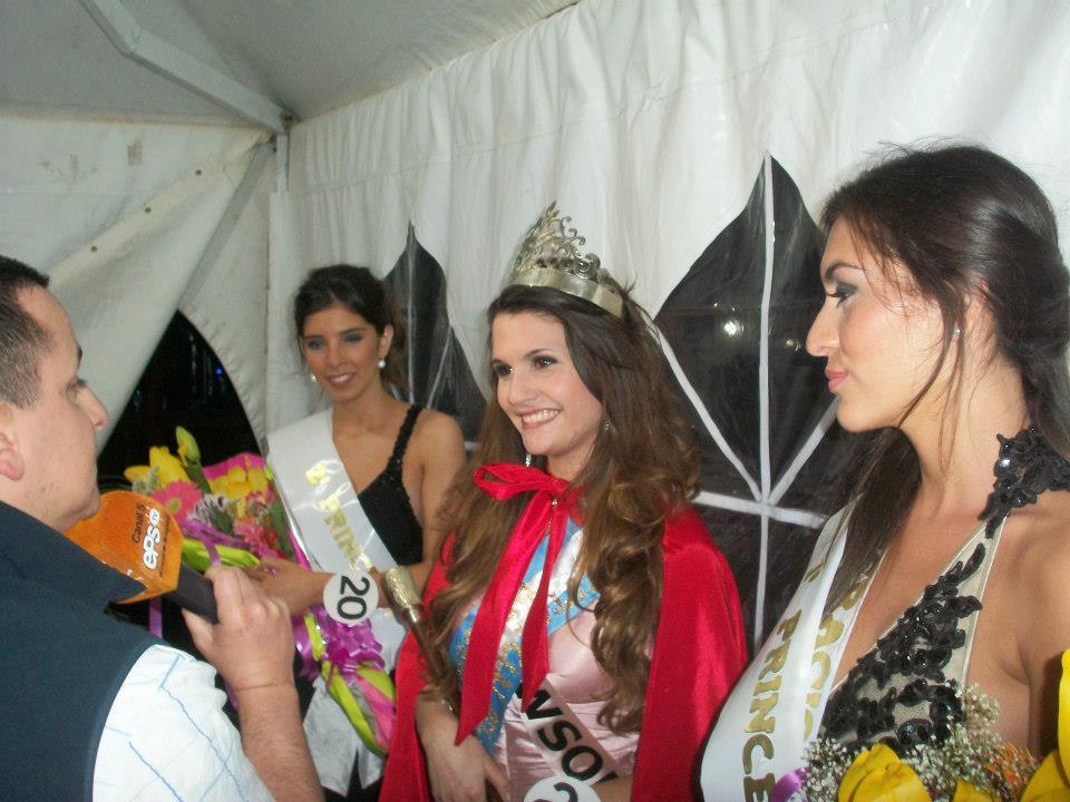 Mora García, representado a la Ciudad de Rawson, coronada Reina de la 14º Fiesta Provincial del Caballo.
