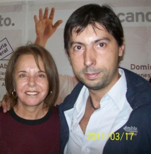 Hugo Moro junto a Chiche Duhalde en foto de archivo.