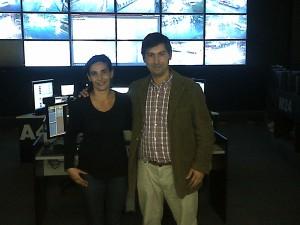 Hugo Moro junto a la Dra. Eugenia Ferrari, responsable del Centro de Operaciones de Tigre.