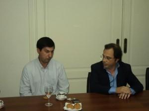 Hugo Moro se reunió con Dario Giustozzi.