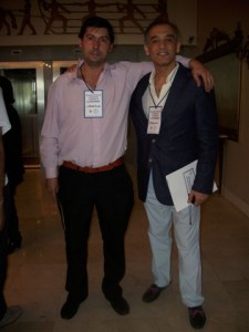 Hugo Moro junto al referente de Bragado.