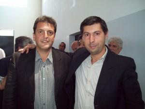 Sergio Massa y Hugo Moro.