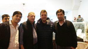Quadrelli y Moro con Massa en Chivilcoy.