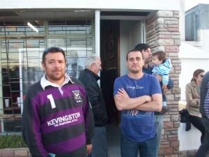 El referente local Lucas Castro luego de dejar inaugurada la Unidad Básica de Hugo Moro.