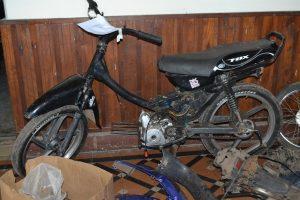 La moto retenida por la Policía de Rawson.