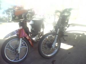 Las motos robadas y recuperadas por la Policía de Chacabuco.
