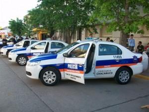 Imagen de los móviles entregados a la Policía de Chacabuco.