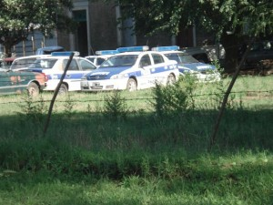 Patrulleros fuera de servicio pertenecientes a la Comisaría de Chacabuco.
