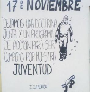 Mural pintado por la Juventud Peronista.