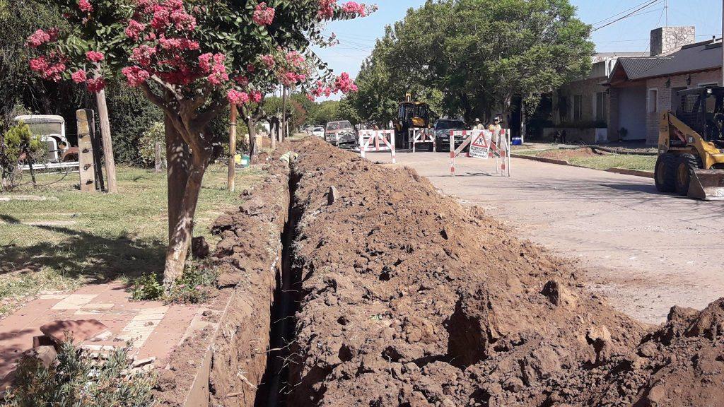 Imagen de los trabajos en calle San Martín.