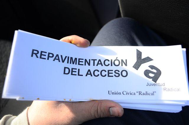 Se pide la repavimentación del acceso a O´Higgins.