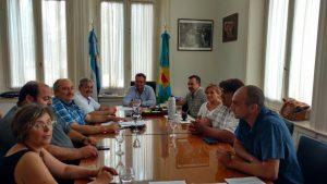 Aiola reunido con integrantes del Sindicato de Trabajadores Municipales.
