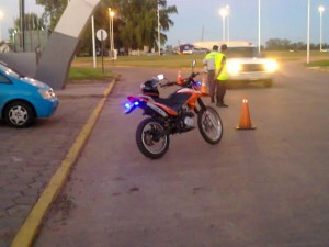 Operativo de tránsito en Chacabuco.