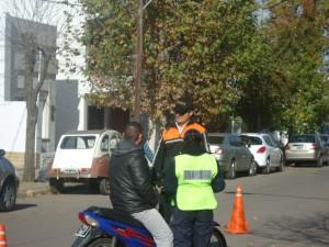 Operativos de transito en Chacabuco.