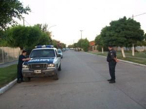 Personal Policial en el operativo de tránsito realizado en avenida Chacabuco y Reconquista.