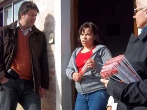 Ortega en el Barrio Bomberos Voluntarios de Chacabuco.