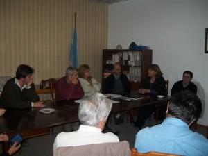 Jorge Ortega y la Dra. Julia reunidos en O' Higgins.