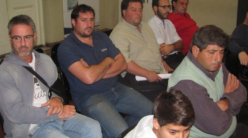El presidente de la Liga Deportiva de Chacabuco en la sesión de anoche