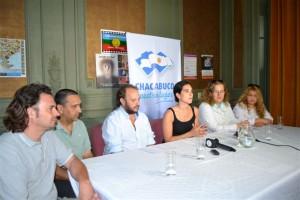 Julieta Pederzoli presentando las actividades culturales para éste fin de semana en Chacabuco.