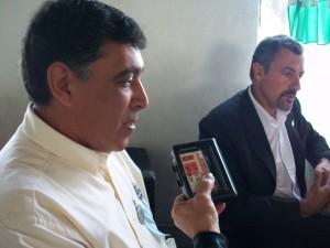 Ex combatiente de Malvinas, Pedro Alberto Correa, brindando una nota a Sobre Nivel, el pasado 2 de mayo de 2010.