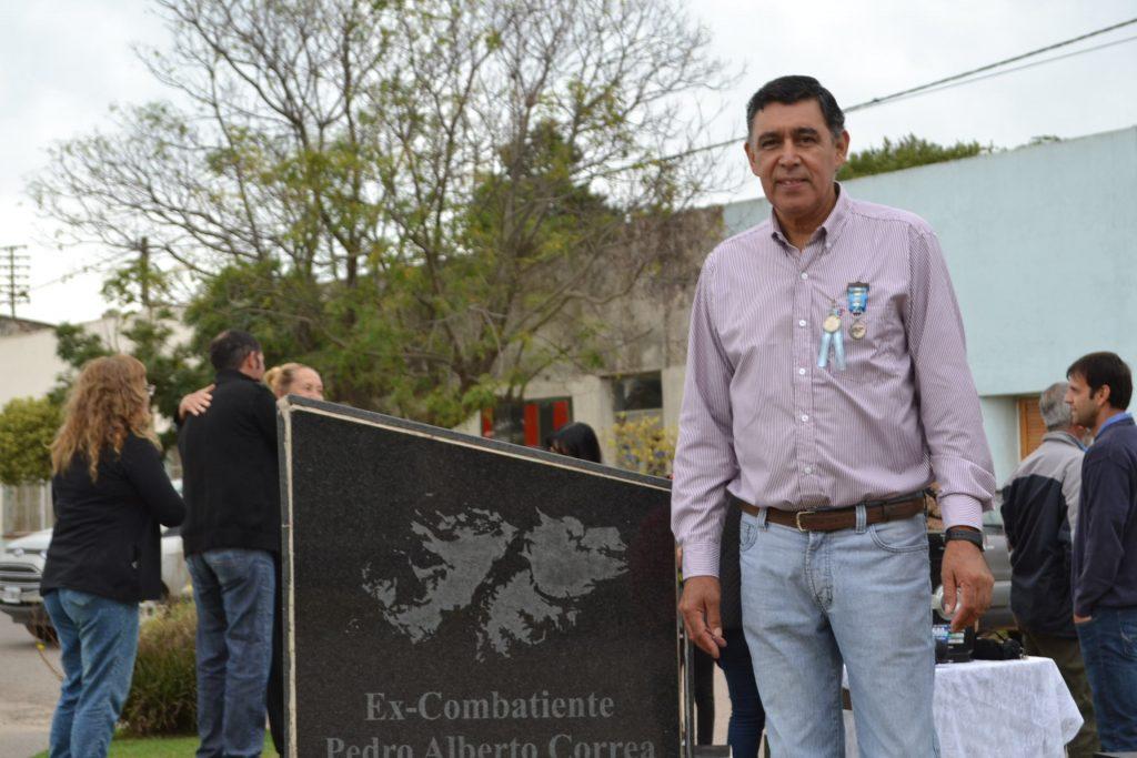 Ex combatiente de Malvinas, Pedro Alberto Correa.
