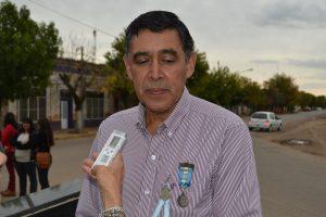 Pedro Correa, luego del acto homenaje.