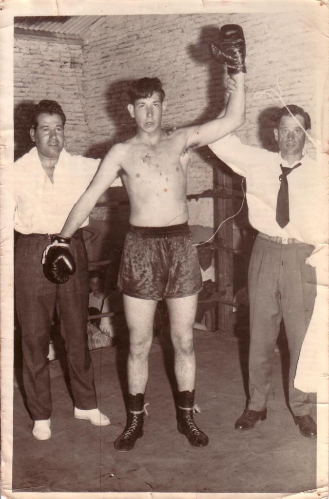 """Aparecen de izquierda a derecha: Heriberto """"Cacho"""" Colombo, Alberto """"Pelufo"""" del Campo y Alberto Ratto."""