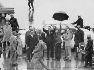 Perón en Ezeiza, 1972.