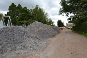 Imagen de la piedra que será colocada en calles con cordón cuneta.