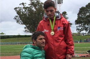 Millán junto a Federico Rodríguez en el podio.
