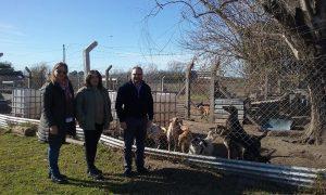 Concejales del PJ-FPV en la Guardería Canina.
