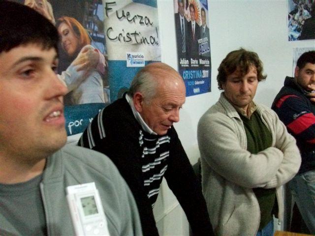 Andres Verde, Néstor Daniel Micucci y Gustavo Millán.