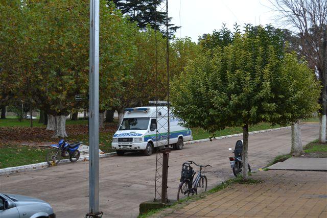 Policía Cientíca con asiento en Junín trabajó en el lugar del hecho.