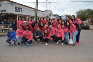 El contingente de la Promo 17 antes de partir a Bariloche.