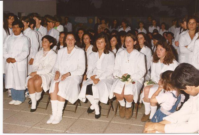 Promoción 1993 en el acto fin de curso.