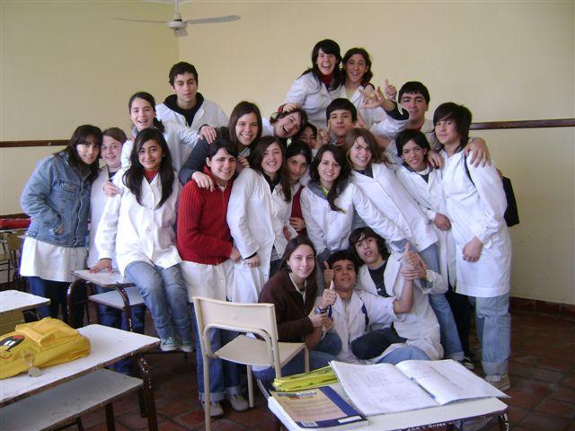 Promoción 2008 en su aula.