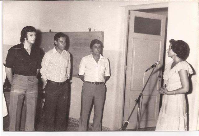 Reconocimiento a los tres clubes locales Sarmiento, Defensores y San Lorenzo. Presidente Néstor Daniel Micucci, Rodolfo Quevedo, y Alcides Guzmán.