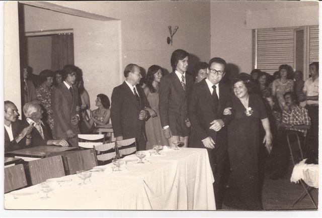 Baile del Egresado 1977: Padrinos :Prof.Norberto Pérez, María Isabel Garbe.