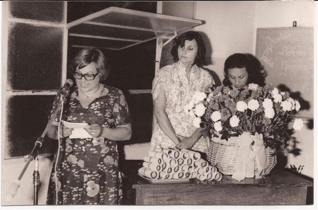 Acto fin de curso 1978: Prof.María Isabel Garbe Despide a la Promoción.