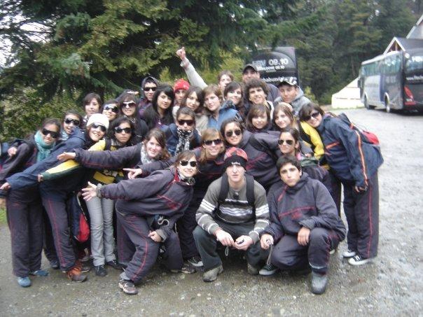 Promoción 2009 en su viaje de Egresados en Bariloche.