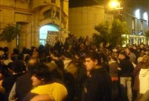 Vecinos de Cañuelas pidiendo seguridad.