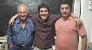 Martín Carnaghi en Castilla junto a Héctor Repetto y Kevin Ceballos