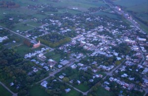 Vista aérea parcial de Rawson.