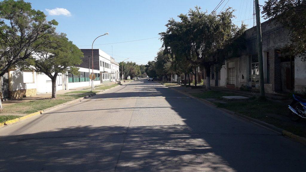 6/2/18- la imagen corresponde a avenida Guillermo Rawson, desde calle San Martín hacía 25 de Mayo.