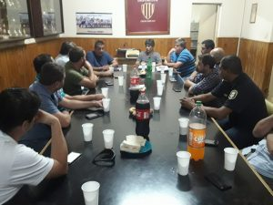 Reunión en la Liga Deportiva