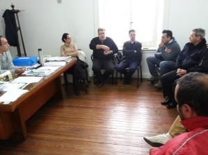 Reunión por el tema seguridad en Chacabuco.